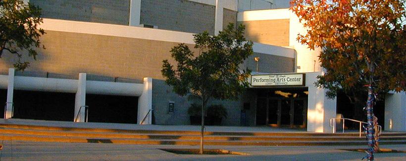 Haugh performance center front entrance.