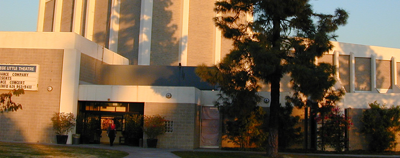 Front entrance of Citrus College Little Theater.