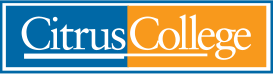 Citrus College Orange and Blue Logo, click to visit Citrus College website for other courses.