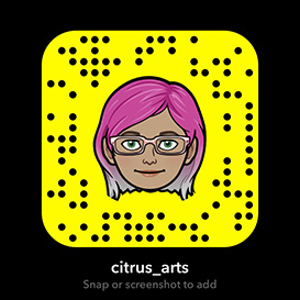Citrus Arts Snapchat Icon. Screenshot with mobile phone to add us.